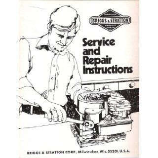 Original Briggs & Stratton Service and Repair Instruction Manual Briggs & Stratton Books
