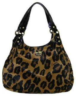 Coach Madison Ocelot Leopard Animal Print Maggie Bag Purse Brown Clothing