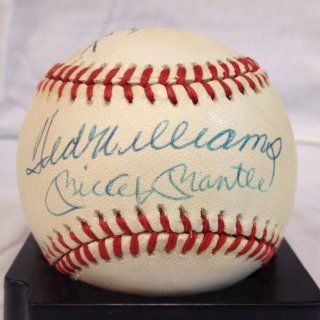 TRIPLE CROWN Signed Baseball with Mickey Mantle Ted Williams HOF auto   JSA Certified   Autographed Baseballs Sports Collectibles