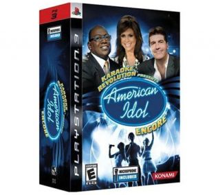 Karaoke Revolution: American Idol Encore w/Mic PS3 —