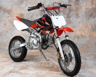 New 110cc Off Road Pit Dirt Bike 110 CC EPA Mini Red Automotive