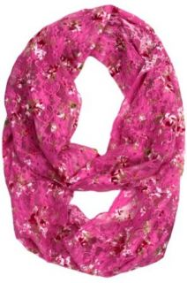 Britta Floral Lace Infinity Scarf   Rose Pink Floral