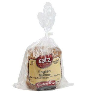 Katz Gluten Free English Muffins   Case of 6 : Muffin Mixes : Grocery & Gourmet Food