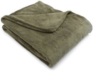 Sunbeam SlumberRest Camelot Microplush Heated Throw, Ivy   Electric Blankets