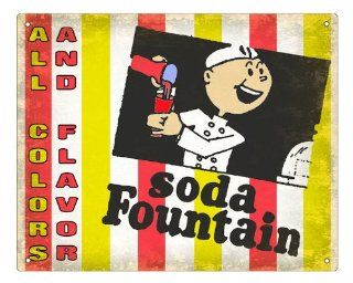 50's Soda Fountain Sign Restaurant deli diner display Vintage Retro Plaque 289 : Other Products : Everything Else