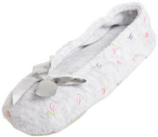 Isotoner Women's Embroidered Terry Ballerina: Clothing