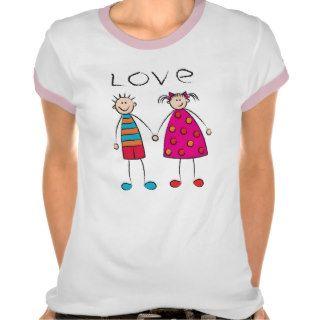 Boy + Girl  Love T shirt