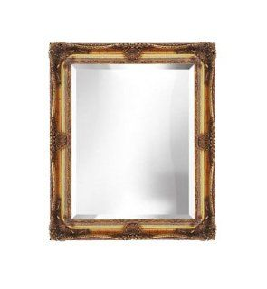 Bevelled Decorative Gold Wall Mirror 24x30   Wall Mounted Mirrors