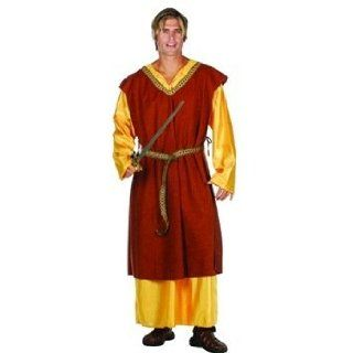 Medieval King Tunic (Brown) Adult Costume Size Standard: Clothing