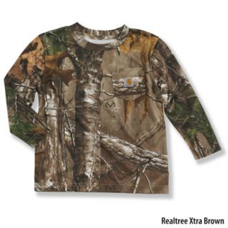 Carhartt Toddler Boys Work Camo Pocket Long Sleeve T Shirt 731036