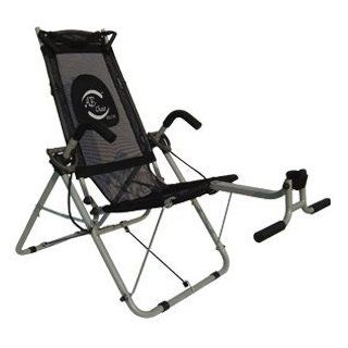 Ab Chair Elite   Black Mesh   Tighten and Tone Your Upper Abs, Obliques and Lower Abs ~ Ab Crunching Machine.  Abdominal Trainers  Sports & Outdoors
