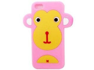 Cute Cartoon 3D Big Monkey Silicone Case Skin Cover for iPhone 5 Pink: Cell Phones & Accessories