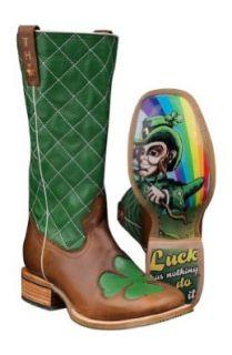 Tin Haul Mens Lucky Leprechaun Clover Western Cowboy Boots Cowboy Boots Shoes