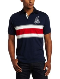 Generra Men's Jersey Rugby Polo Embroidery Shirt, Deep Sea, Medium at  Men�s Clothing store