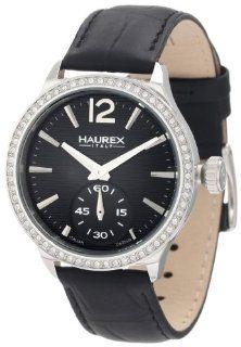 Haurex Italy Women's FS341DNN Grand Class Crystal Bezel Sub second leather Watch at  Women's Watch store.