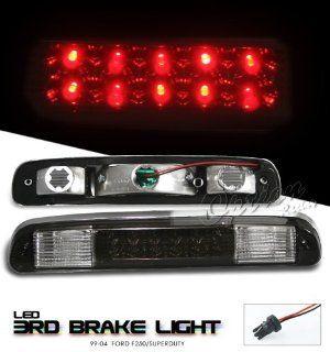 1999 2003 (99 00 01 02 03) FORD F250/F350 F 250/F 350 PICKUP TRUCK SMOKE LENSE LED 3RD THIRD TAIL BRAKE LIGHTS LAMP: Automotive