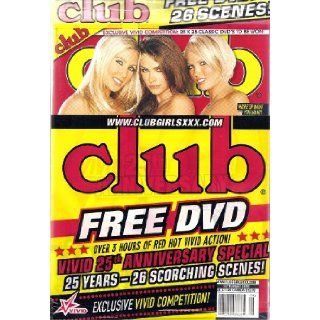 Club Magazine September 2009 Kobe Tai, Tera Patrick, Christy Canyon, Sunny Leone with Bonus D.V.D.: CLUB: Books