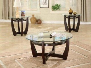 Shop Coaster Furniture 700295 Contemporary 3 Pieces Occasional Table Set with Glass Tops 700295 at the  Furniture Store. Find the latest styles with the lowest prices from Coaster Home Furnishings