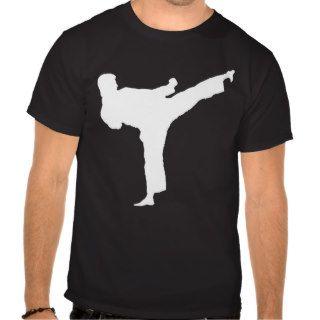 Kenpo Karate White Kick Tee Shirt