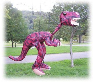 "Red Dinosaur 18"" Marionette: Toys & Games"