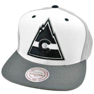 NHL LNH Mitchell & Ness Colorado Rockies Throwback Logo Snapback Flat Bill Hat  Sports Fan Baseball Caps  Sports & Outdoors