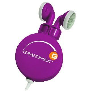 Grandmax R AUDIO 4 PL Retractable Stereo Earbuds (Purple) Electronics