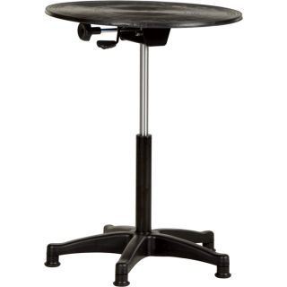 Vestil Heavy-Duty Manual Turntable —  With Pedestal, 300-Lb. Capacity, 24in. Dia., 20in.–30in.H, Model# TT-24-CPED  Turntables