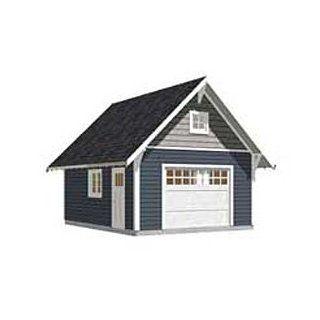 Garage Plans : 1 Car Craftsman Style Garage Plan With Attic   384 6   16' x 24'   one car   By Behm Design: Home Improvement