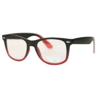 Retro Style Clear Lens Faux Prescription Fashion Glasses   h4703   Red Shoes