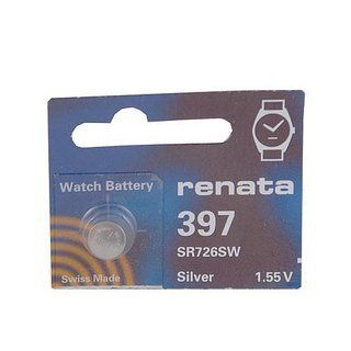 Renata Silver Oxide Watch Battery For Renata 397 Button Cell Health & Personal Care