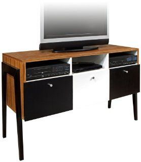 "Shop Maze TV Stand (Zebrano) (32""H x 52""W x 20""D) at the  Furniture Store. Find the latest styles with the lowest prices from Universal Lighting and Decor"