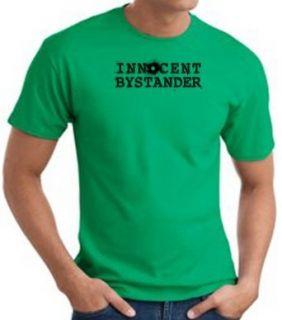 INNOCENT BYSTANDER BLACK Funny Adult Tee T shirt   Kelly Green: Clothing