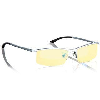 Gunnar Optiks Emissary Mercury Amber Semi rimless Advanced Computer Glasses