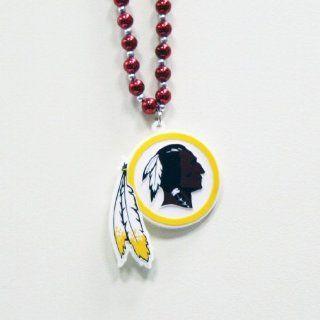 NFL Washington Redskins Team Logo Beads Necklace  Sports Fan Jewelry  Sports & Outdoors
