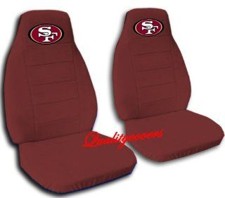 "2 Burgundy ""San Francisco"" car seat covers for a 2002 Toyota Camry.: Automotive"