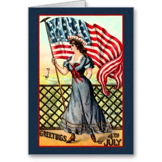 Vintage Victorian July 4 Independence Day Greeting Cards