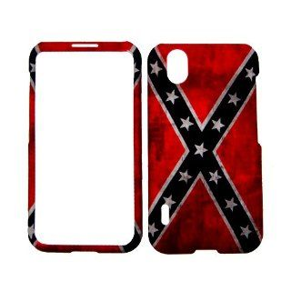 LG OPTIMUS BLACK P970 / LG MARQUEE LS855 CONFEDERATE FLAG HARD PLASTIC SNAP ON PROTECTOR COVER CASE: Cell Phones & Accessories