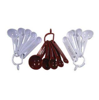KitchenAid Cook's Series Measuring Spoons   1/4, 1/3, 1 Teaspoon 1/2, 1 Tablespoon WHITE Kitchen & Dining