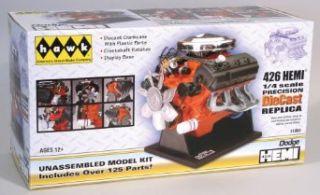 Hawk 1/4 scale 426 Dodge Street Hemi engine diecast model kit Toys & Games