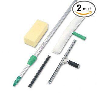 Unger  Pro Window Cleaning Kit w/8 ft. Pole, Scrubber, Squeegee, Scraper, Sponge    Sold as 2 Packs of   1   /   Total of 2 Each Industrial & Scientific