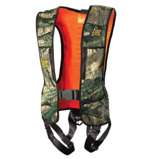 Hunter Safety System Mossy Oak Reversible Harness w/Linemans Climbing Strap 429044