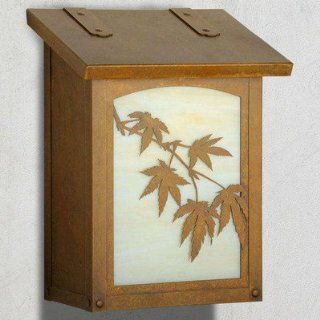 Japanese Maple Vertical Wall Mounted Mailbox : Patio, Lawn & Garden