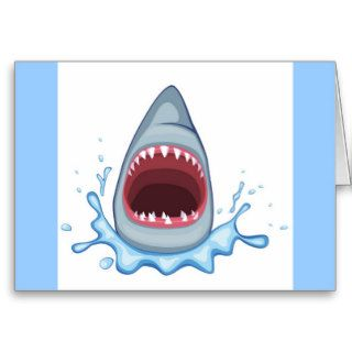 vectorstock_383155 Cartoon Shark Teeth hungry Greeting Card