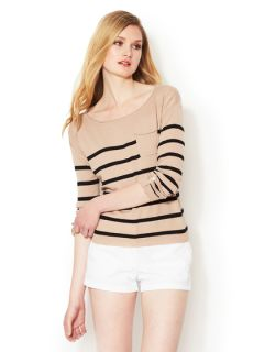Audrey Striped Cotton Boatneck Sweater by C.Z. FALCONER