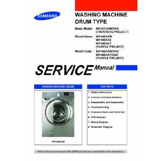 Samsung WF448AAW/XAA service manual and Samsung WF448AAP/XAA Service manual Samsung Books