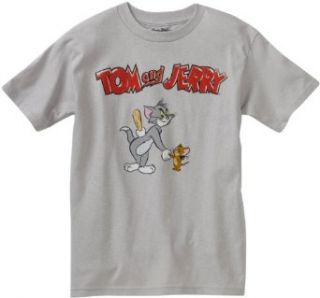 Tom And Jerry Boys 8 20 License T Shirt, Silver, X Large: Fashion T Shirts: Clothing