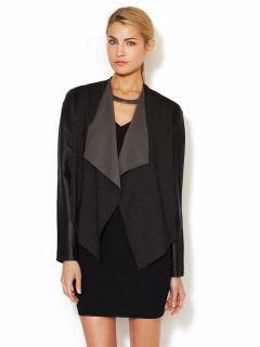 Rio Leather Sleeve Cardigan by Stella & Jamie