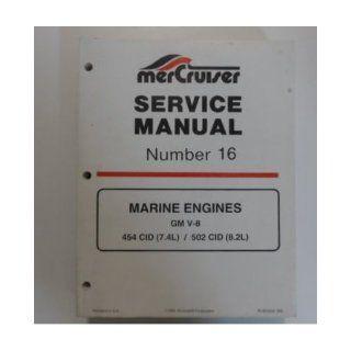 1992 MerCruiser Marine Engines V8 454 502 CID 7.4L 8.2L Service Manual #16 STAIN mercruiser Books