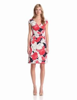 Evan Picone Women's Floral Print Dress, Ginger Combo, 14 at  Women�s Clothing store: