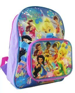 Disney Tinker Bell Backpack W/ Lunch Bag (2 pcs Set)   Full Size Fairies & Tinkerbell Backpack Clothing